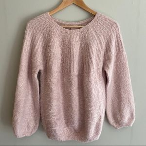 ZARA Blush Pink Soft Fuzzy Oversized Sweater